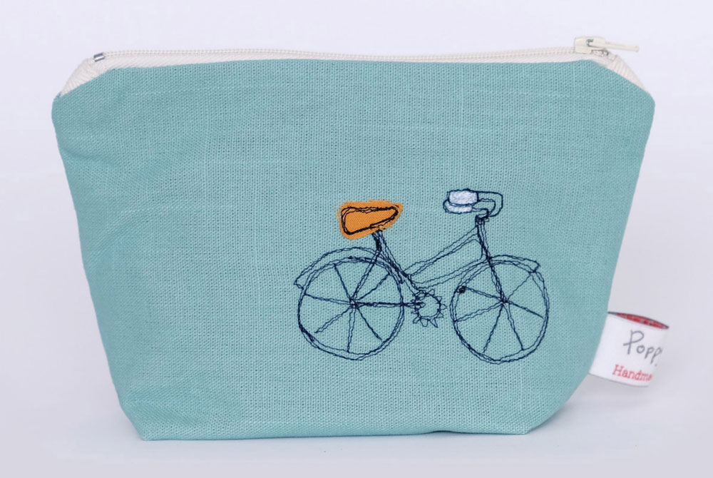 Poppy Treffry Little Bicycle Makeup Bag