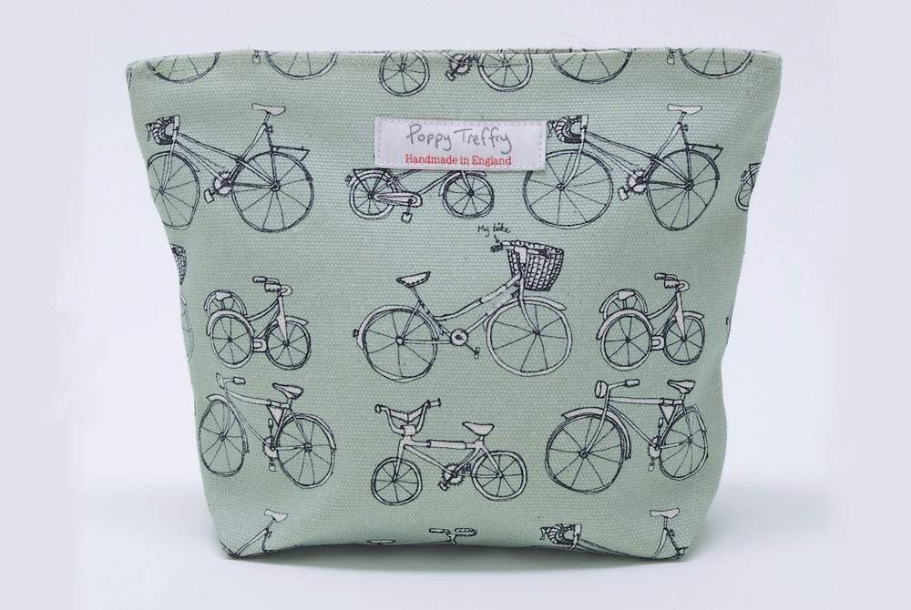 Poppy Treffry Big Bicycle Makeup Bag