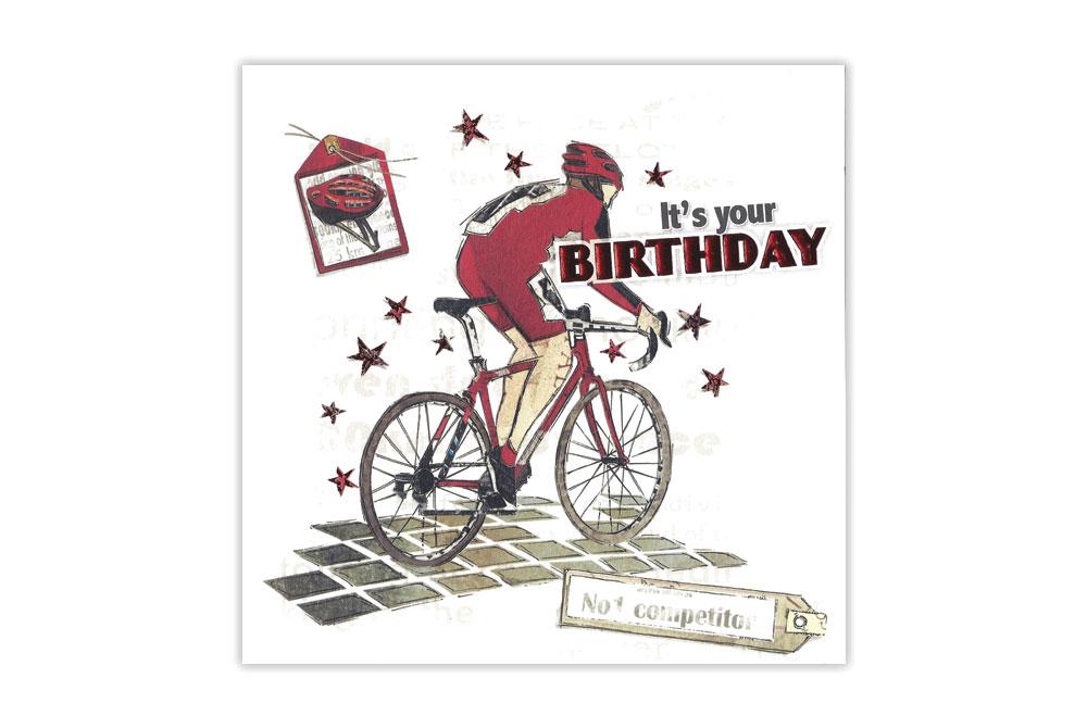 Racing Bicycle Birthday Card