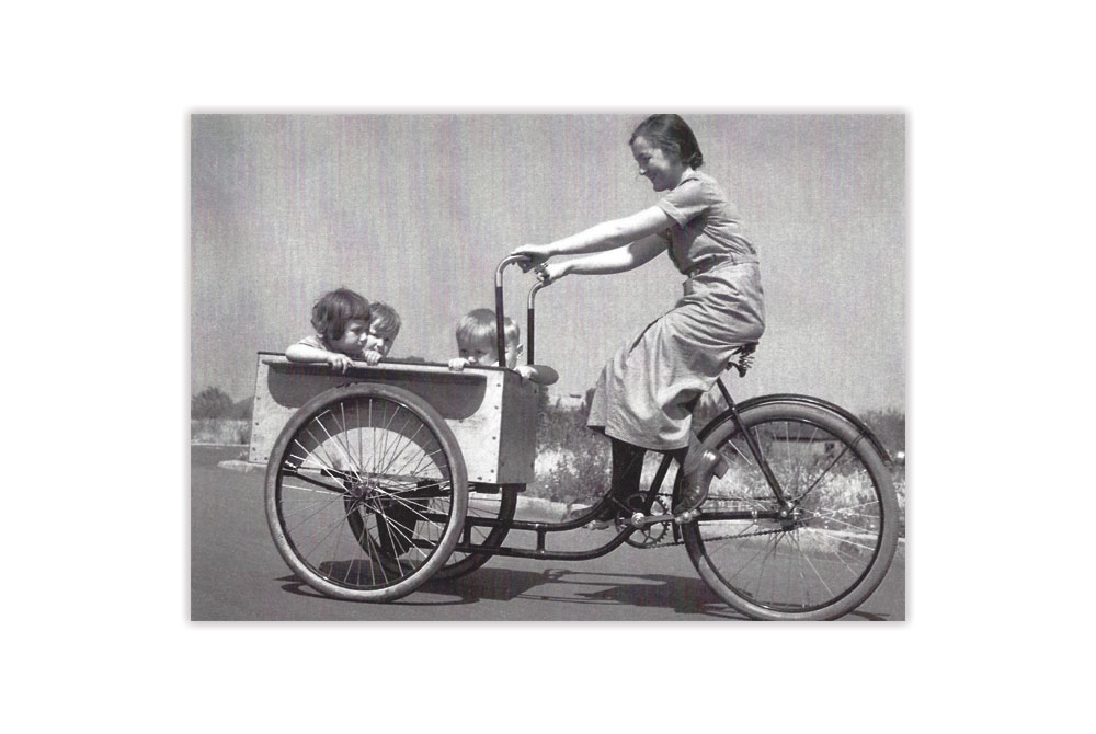 Cargo Bicycle Greeting Card