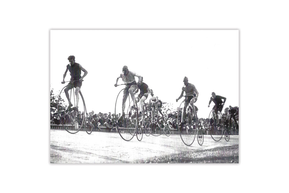 Penny Farthing Race Bicycle Greeting Card