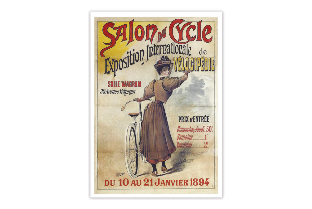 Salon du Cycle Bicycle Greeting Card