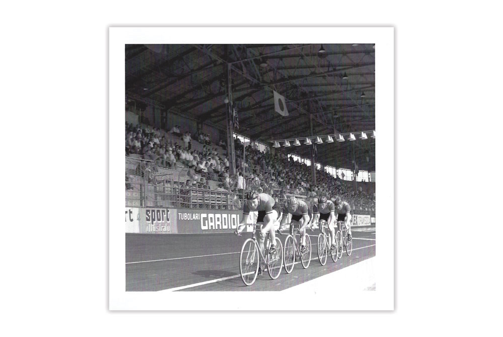 Track Race Bicycle Greeting Card