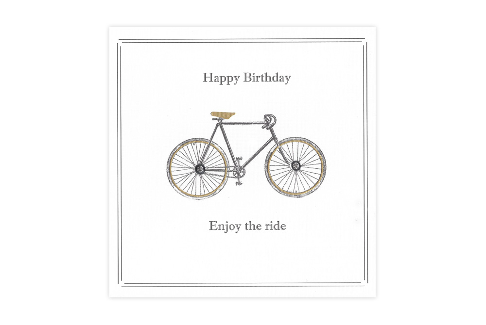 Vintage Racing Bicycle Birthday Card