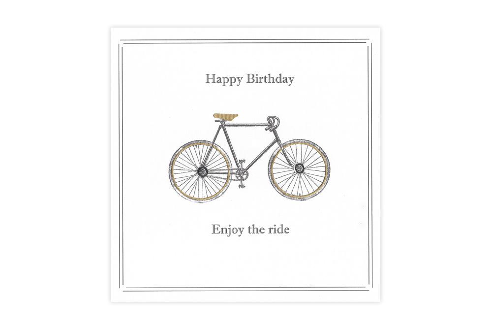 Vintage Racing Bicycle Birthday Card