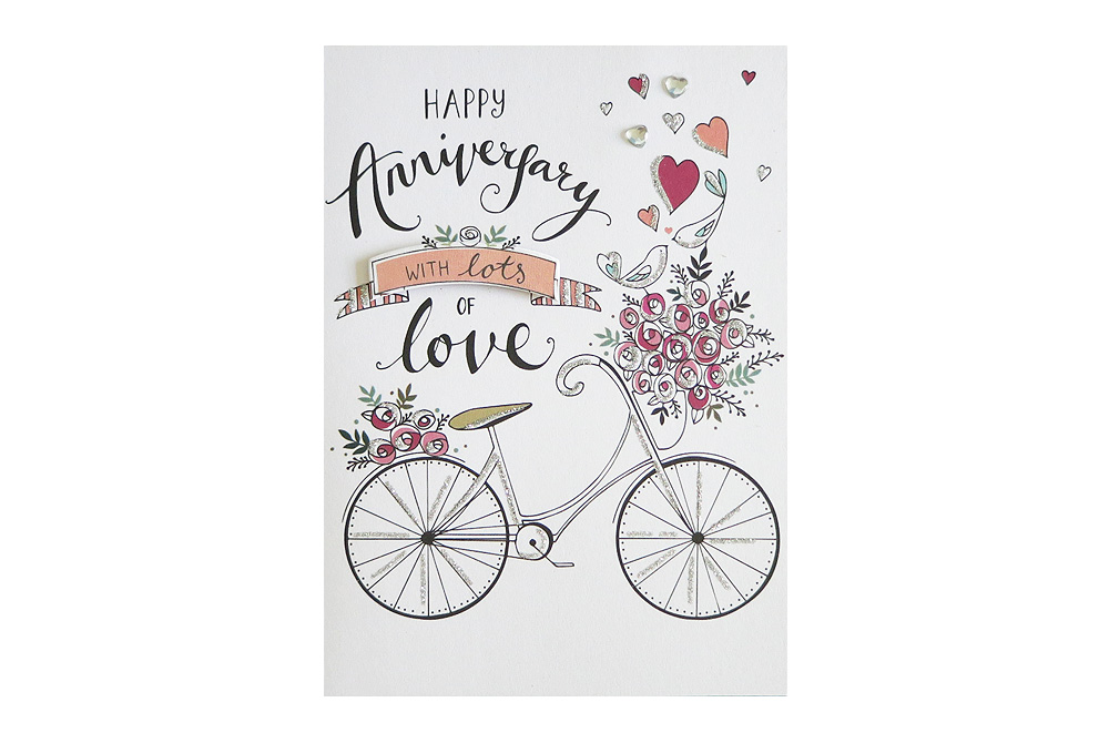 With Lots of Love Bicycle Anniversary Card