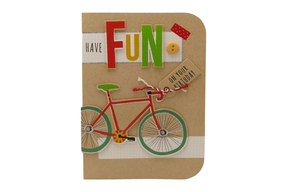 Have Fun Racing Bicycle Birthday Card