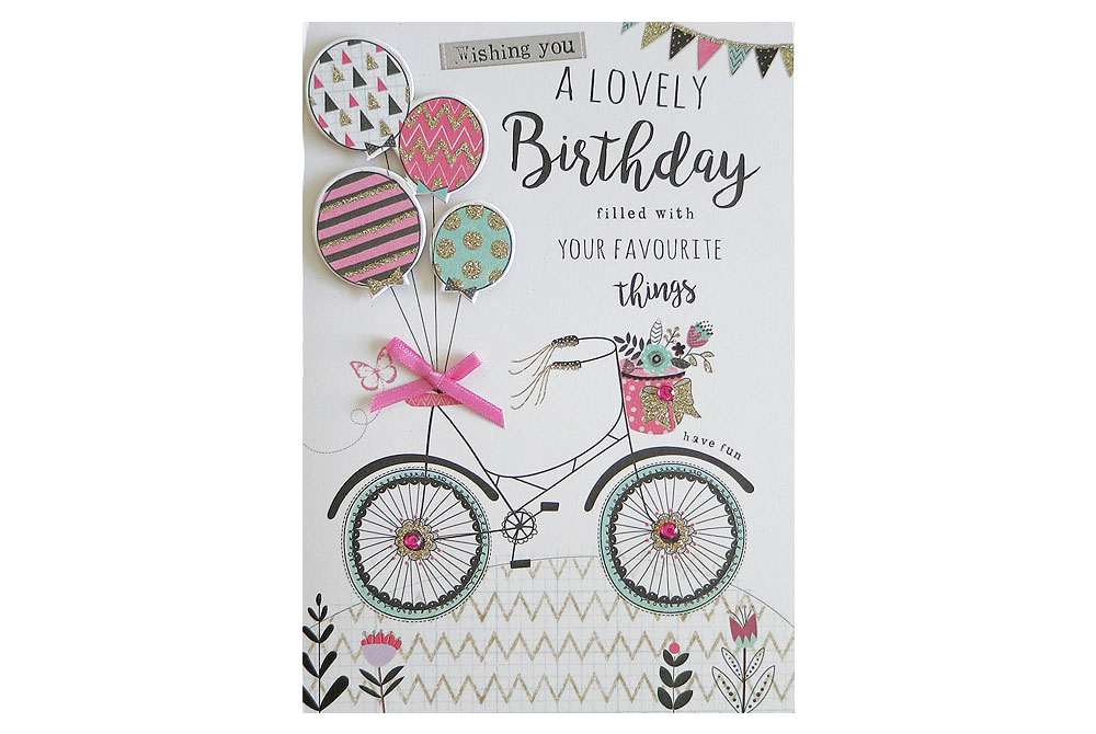 Favourite Things Bicycle Birthday Card
