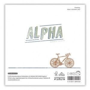 Copper Racing Bicycle Birthday Card
