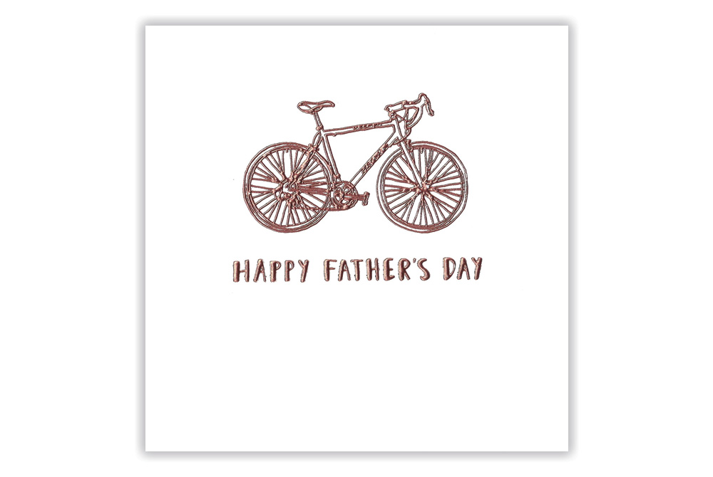 Copper Racing Bicycle Father's Day Card