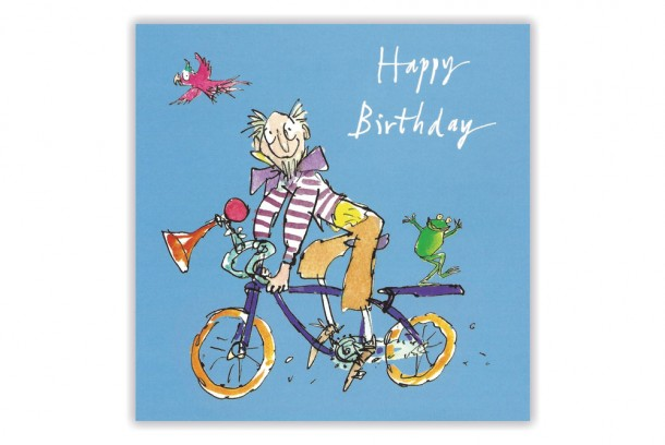 Quentin Blake Bicycle Birthday Card Cyclemiles