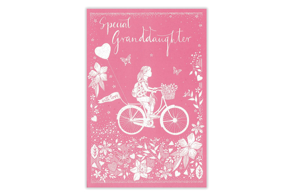 Special GrandDaughter Bicycle Birthday Card