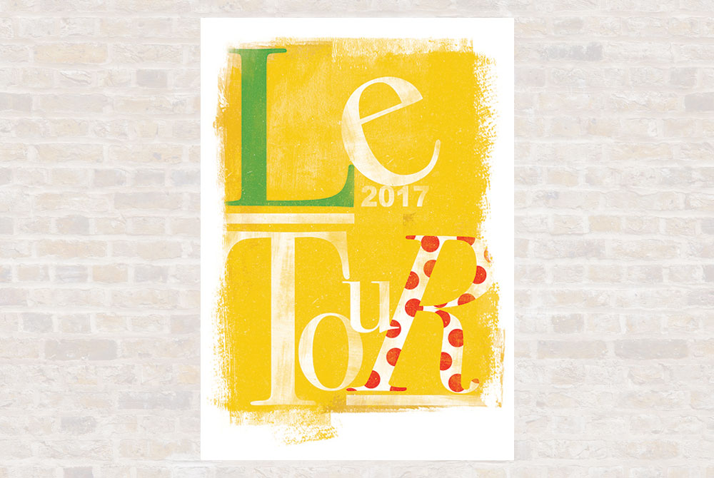 Le Tour 2017 Cycling Print by Gareth Llewhellin