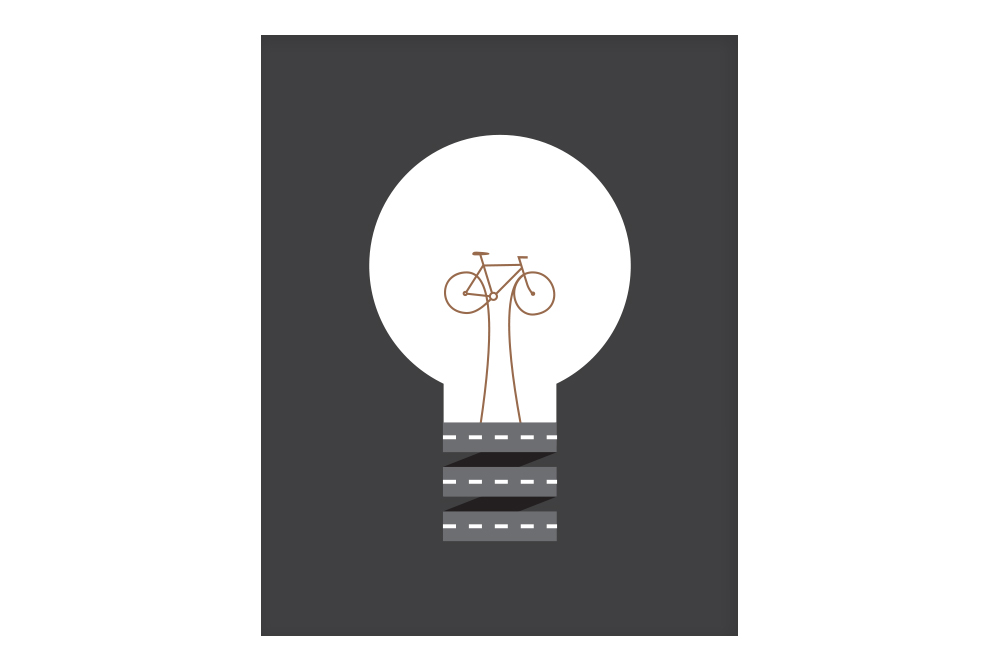 Copper Pedal Power Cycling Poster – Rebecca J Kaye