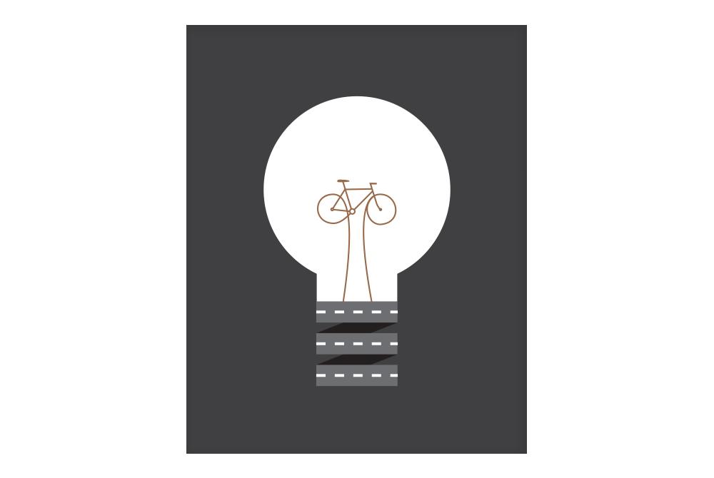 Copper Pedal Power Cycling Poster – Rebecca J Kaye