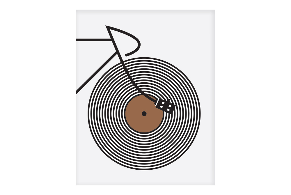 Copper Track Cyclist Cycling Poster by Rebecca J Kaye