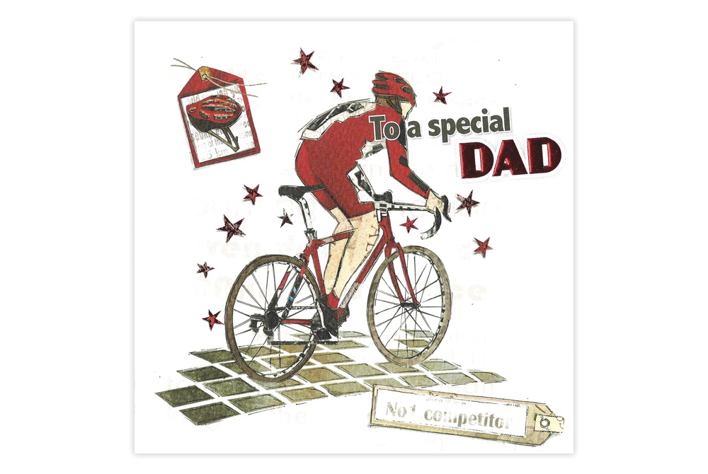Racing Bicycle Father's Day Card