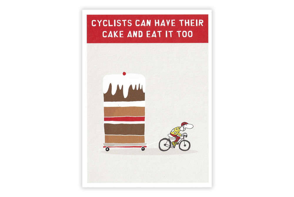 Cake and Eat it Bicycle Greeting Card