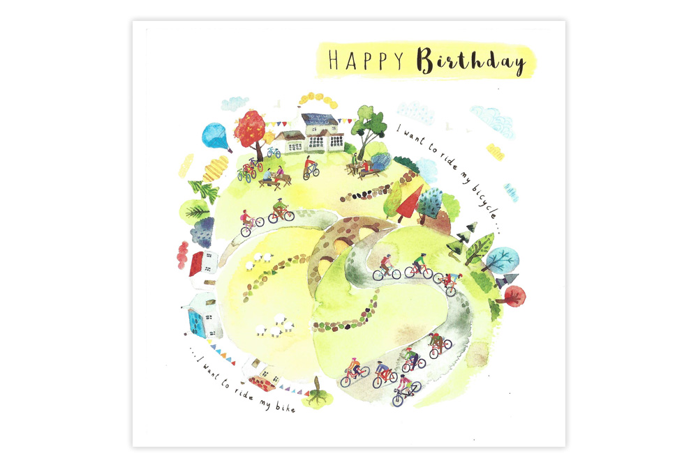 Out for a Ride Bicycle Birthday Card