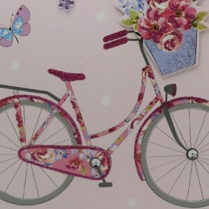Extra Large Happy Bicycle Birthday Card