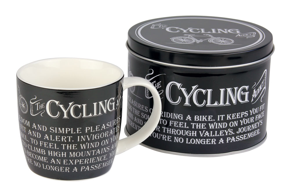 The Cycling Addict Bicycle Mug and Tin