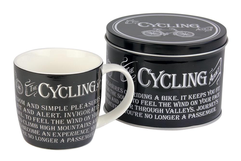 The Cycling Addict Bicycle Mug and Tin