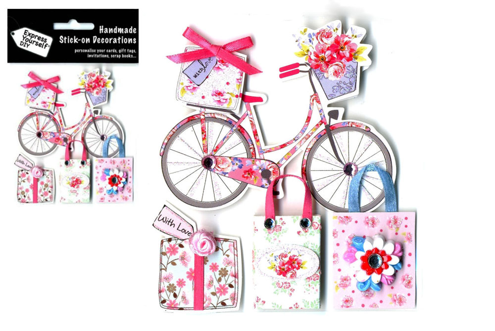 Stick on Bicycle Toppers Decorations