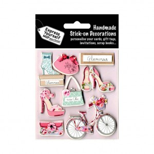 Stick on Glamorous Bicycle Toppers Decorations