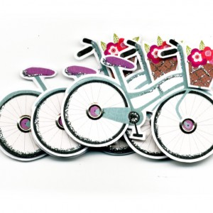 Stick on Shopper Bicycle Toppers Decorations