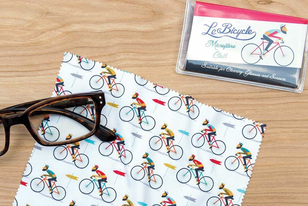 ae24540fcc1 £4.95  Le Bicycle Glasses Cleaning Cloth