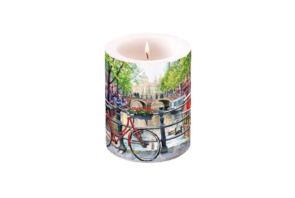 Amsterdam Bicycle Candle