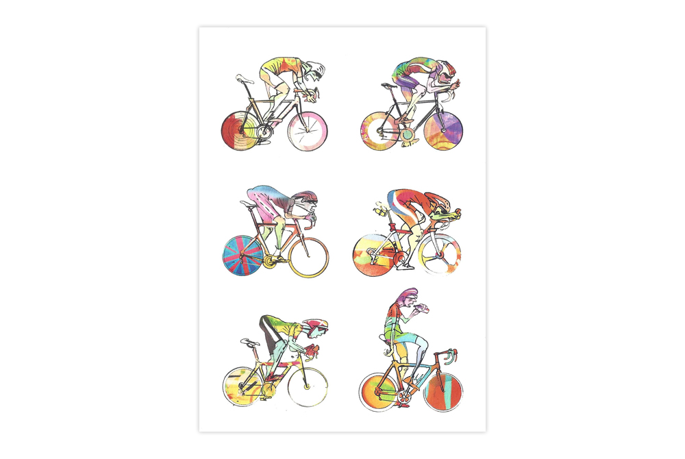 Roadies 1 Bicycle Greeting Card – Simon Spilsbury