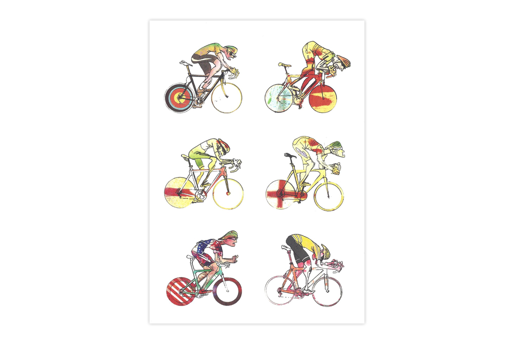 Roadies 2 Bicycle Greeting Card – Simon Spilsbury
