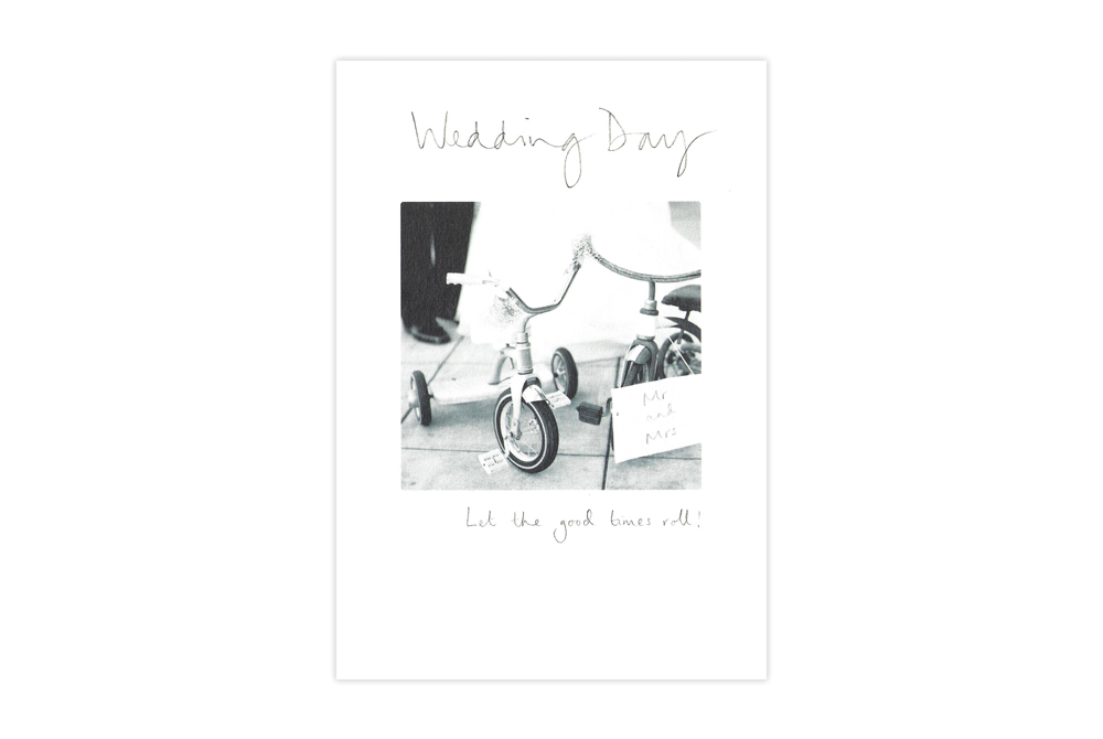 Bicycle Wedding Day Card