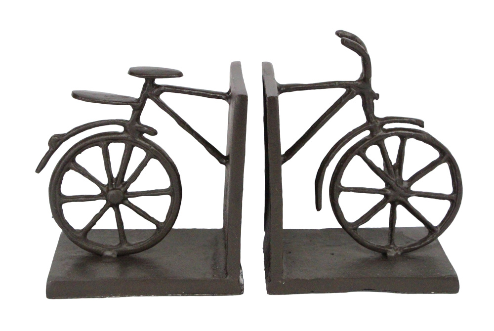Cast Iron Bicycle Bookends