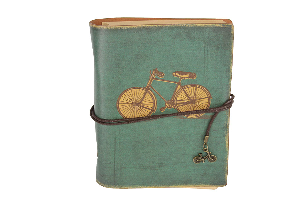 Large Vintage Bicycle Notebook