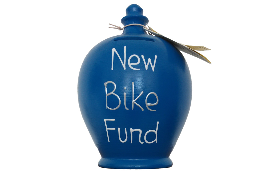 Terramundi New Bike Fund Money Pot – Blue
