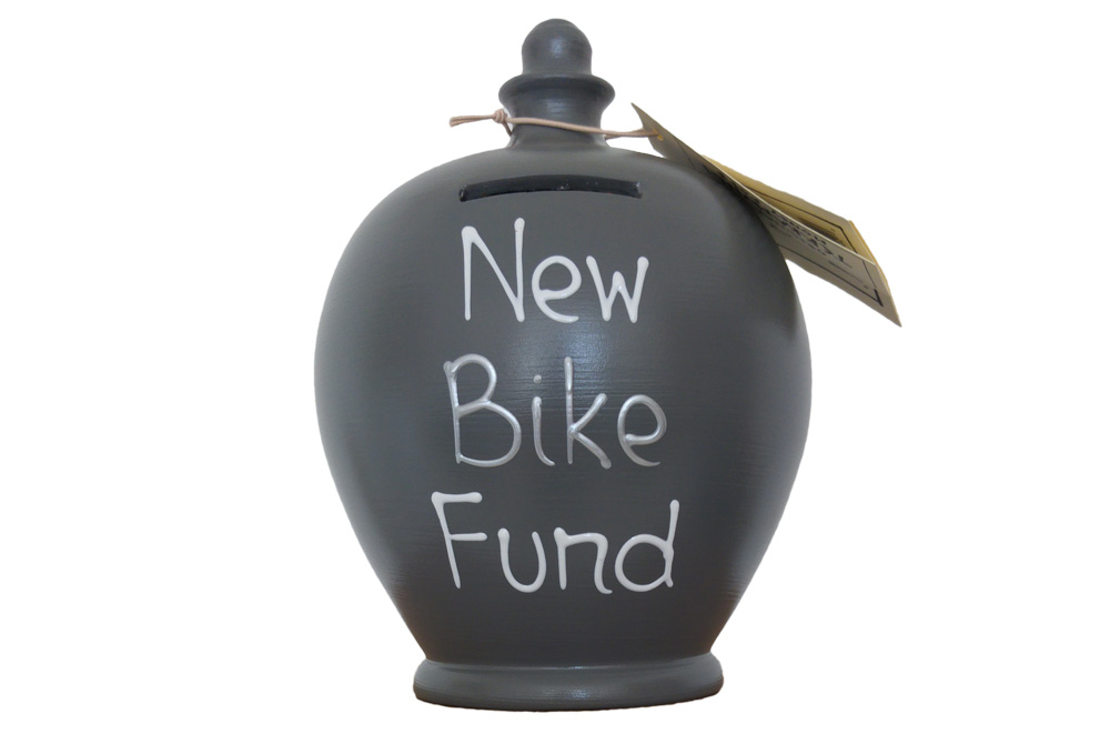 Terramundi New Bike Fund Money Pot – Grey