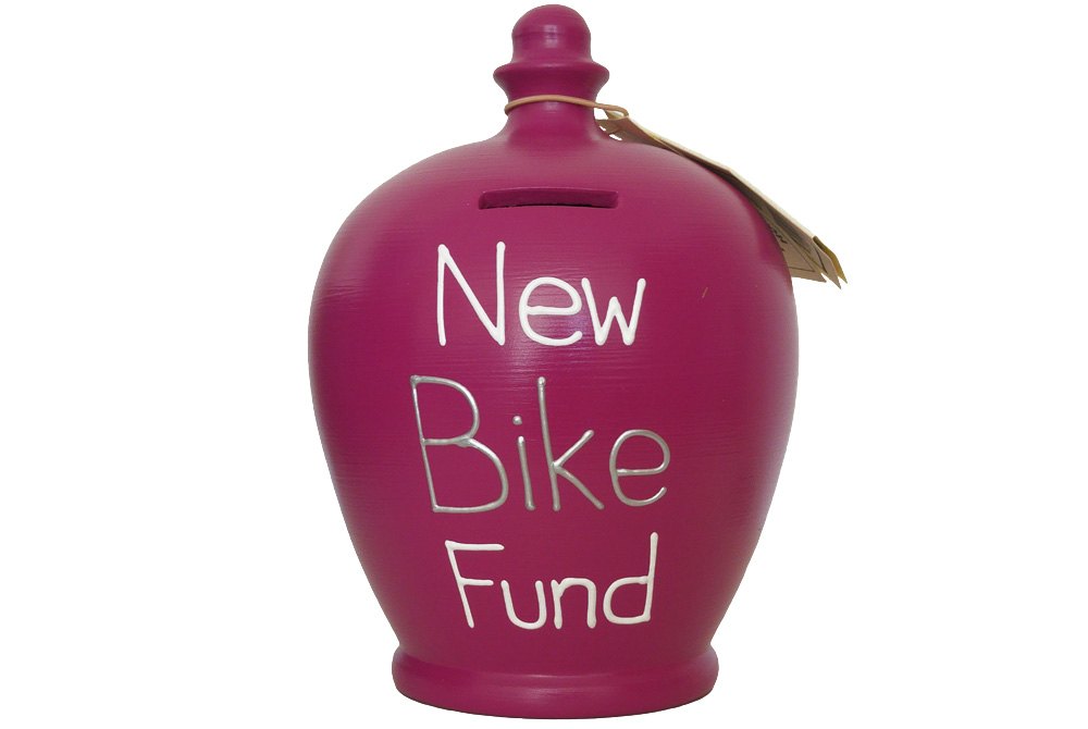 Terramundi New Bike Fund Money Pot – Magenta