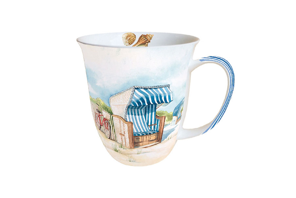 Day at the Beach Bicycle Mug