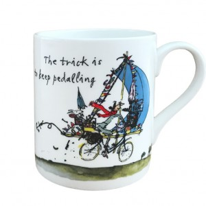 Mrs Armitage Pedalling on a Bicycle Mug