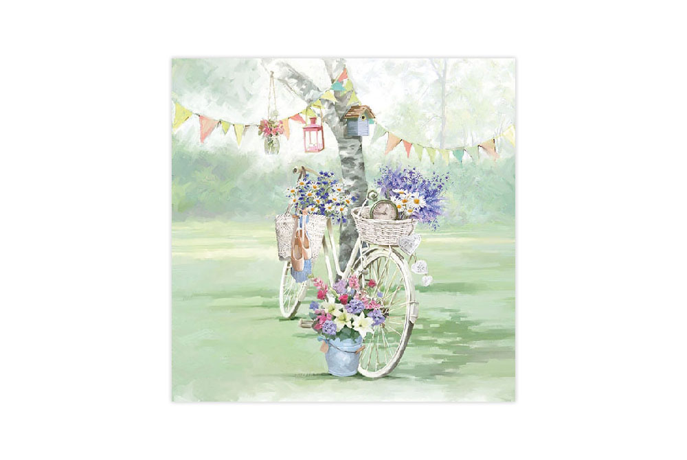 Garden Party Bicycle Napkins