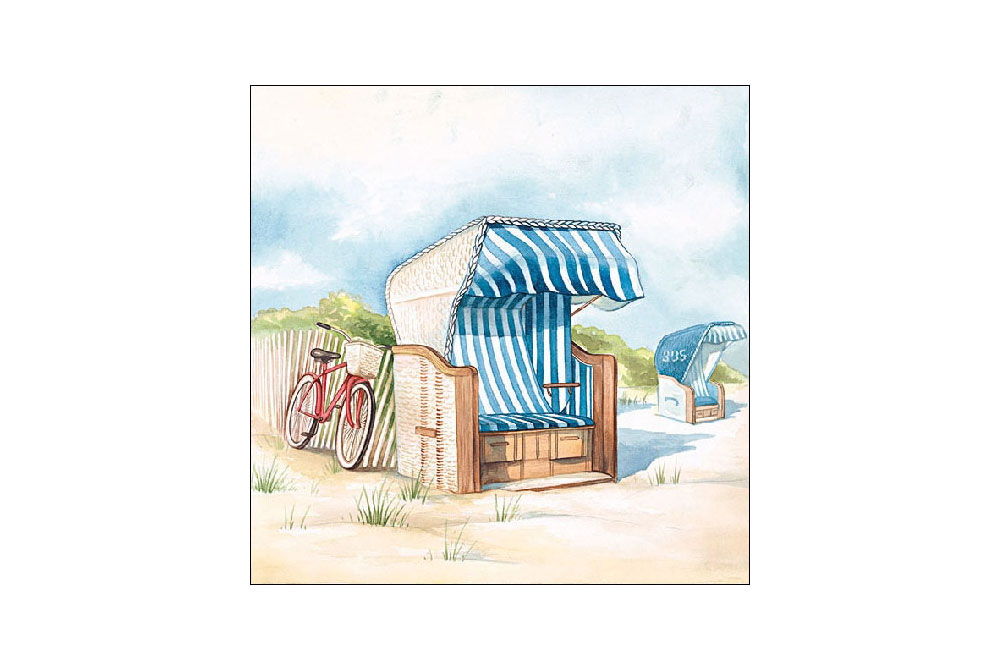 Ride to the Beach Bicycle Napkins