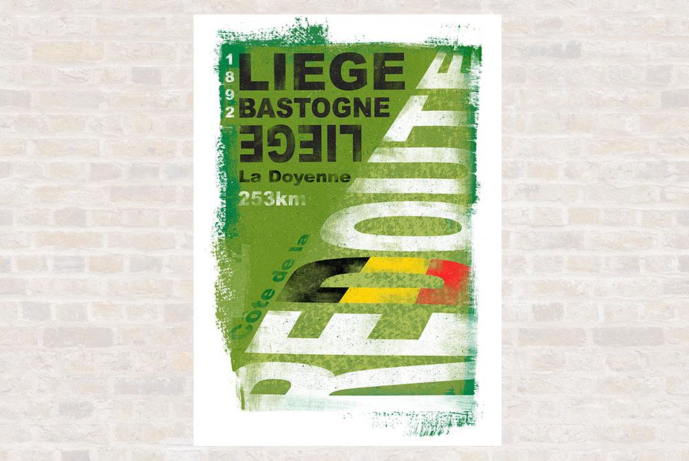 Liege Bastogne Liege Cycling Print by Gareth Llewhellin