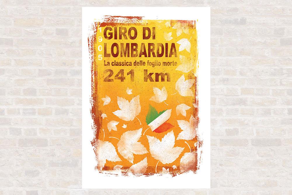 Giro de Lombardia Cycling Print by Gareth Llewhellin