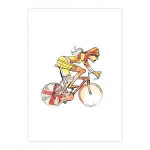 Woman Racer 48 Cycling Print - Simon Spilsbury
