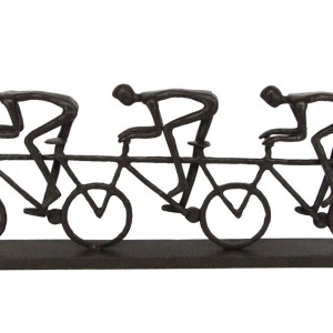 Triple Racing Cyclists Bicycle Sculpture