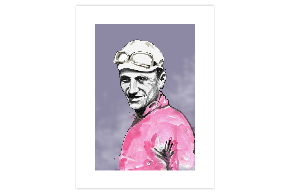Alfredo Binda Cycling Print by Richard Long
