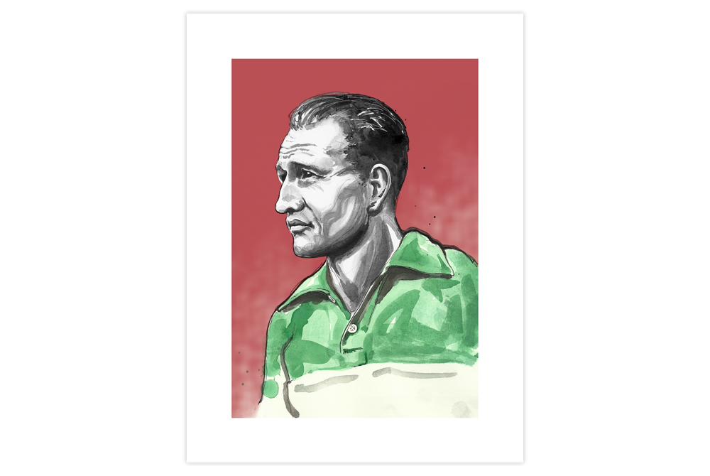 Gino Bartali Cycling Print by Richard Long