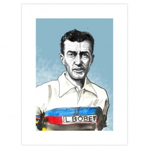 Louison Bobet Cycling Print by Richard Long